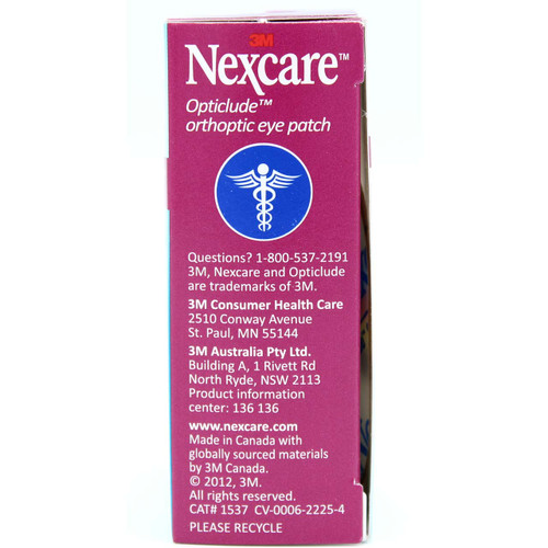 3M 1537 Nexcare Opticlude Orthopic Eye Patch, 20 Junior Patches