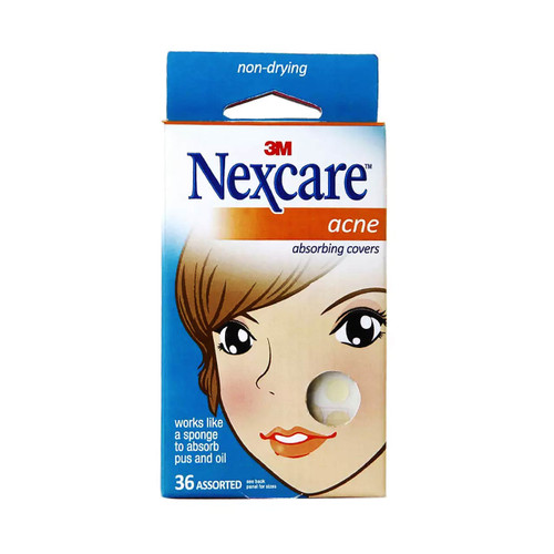 3M Nexcare AC-036 Acne Absorbing Covers, Assorted