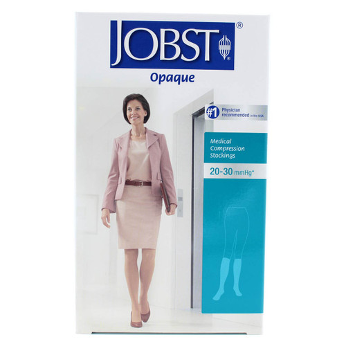 Jobst 115133 Opaque Closed Toe, Knee High Compression Stockings, 20-30 mmHg (Black)
