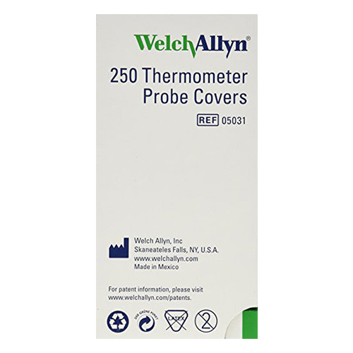 Welch Allyn 05031-101 Welch Allyn SureTemp Disposable Thermometer Probe Covers
