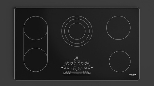 "Fulgor Milano 36"" 600 Series Electric Cooktop"