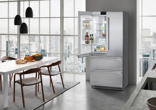 "Liebherr 36"" Freestanding French Door Premium Plus Fridge/Freezer w/ Ice Maker - BioFresh"