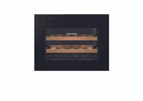 "Liebherr 24"" Built-In Integrated Wine Storage w/ Drop Down Door - Black Glass"