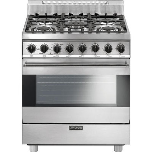 "Smeg 30"" All Gas Range - Stainless Steel"