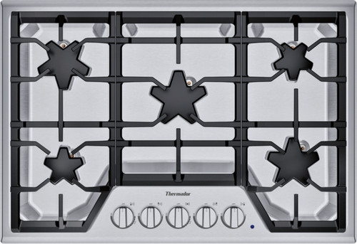 """Thermador 30"""" Gas Cooktop - Extra Low Simmer w/ Stainless Steel Control Panel"""