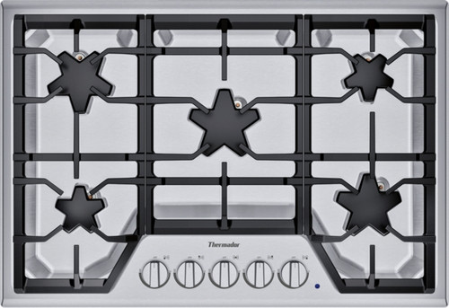 "Thermador 30"" Gas Cooktop w/ Stainless Steel Control Panel"