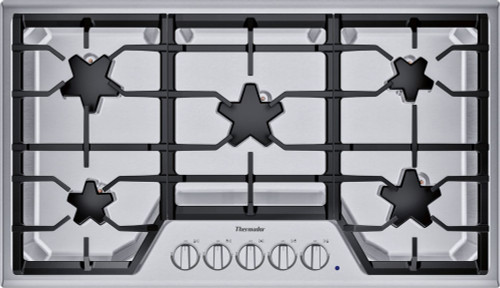"Thermador 36"" Gas Cooktop w/ Stainless Steel Control Panel"