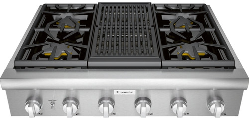 "Thermador 36"" Professional Rangetop w/ Electric Grill"