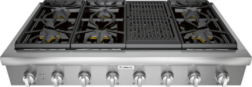 "Thermador 48"" Professional Rangetop w/ Electric Grill"