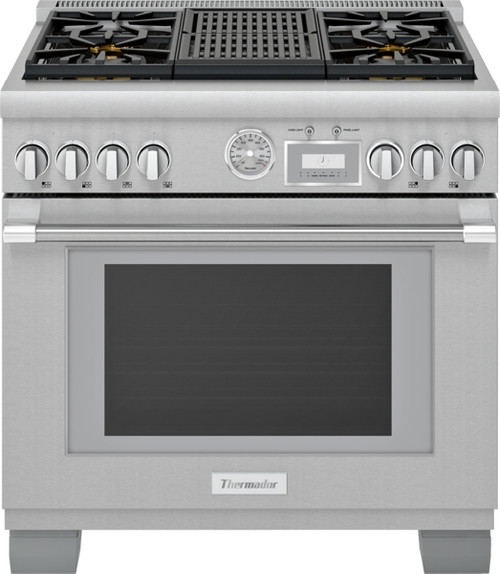 "Thermador 36"" Dual Fuel Grand Pro Range w/ Electric Grill"