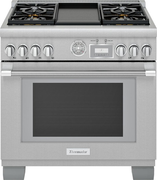 "Thermador 36"" All Gas Grand Pro Range w/ Electric Griddle"