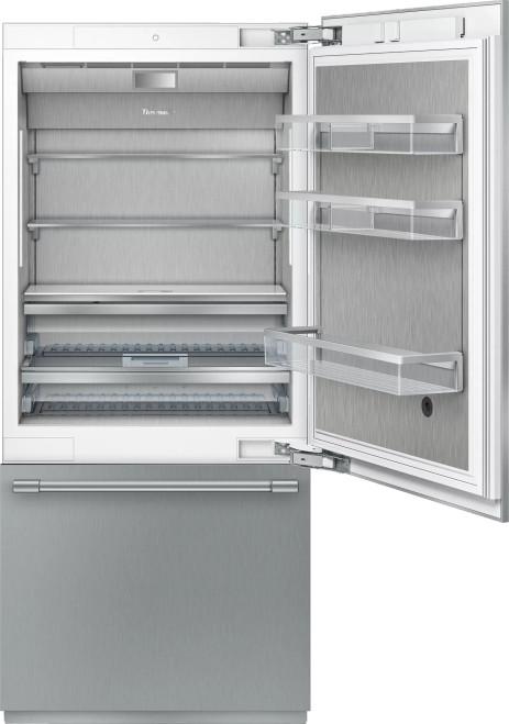 """Thermador 36"""" 2-Door Refrigerator Bottom Mount Freezer w/ Pro Handles"""