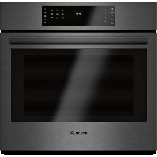 """Bosch 30"""", 800 Series, Single Wall Oven - Black Stainless"""
