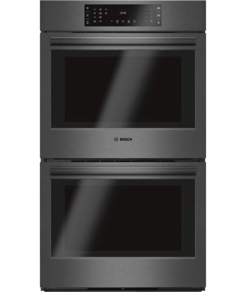 "Bosch 30"", 800 Series, Double Wall Oven - Black Stainless"
