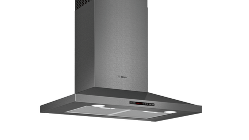 "Bosch 30"" 800 Series Pyramid Chimney Wall Hood - Black Stainless"