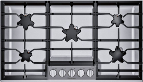 "Thermador 36"" Gas Cooktop - Extra Low Simmer w/ Glass Control Panel"