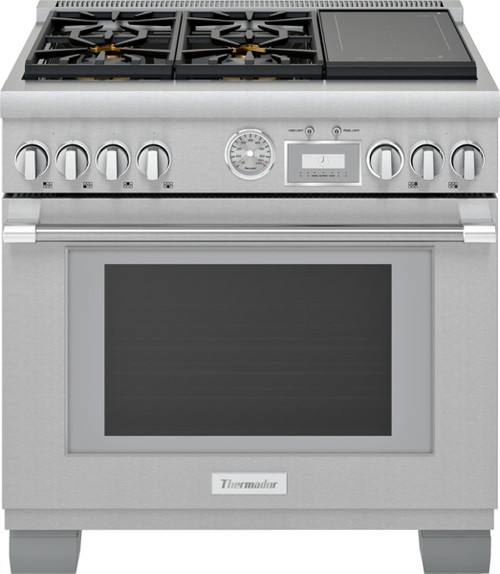 """Thermador 36"""" Dual Fuel Grand Pro Range w/ Liberty Induction"""