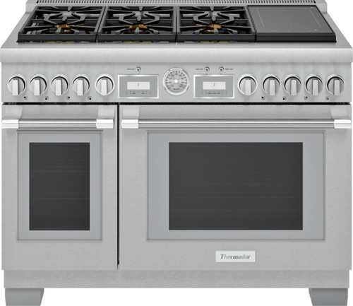 """Thermador 48"""" Dual Fuel Grand Pro Range w/ Liberty Induction"""