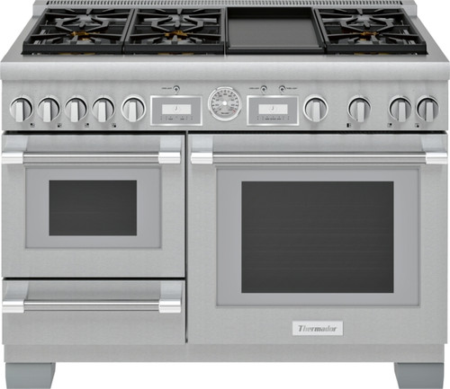 "Thermador 48"" Dual Fuel Grand Pro Steam Range w/ Electric Griddle"