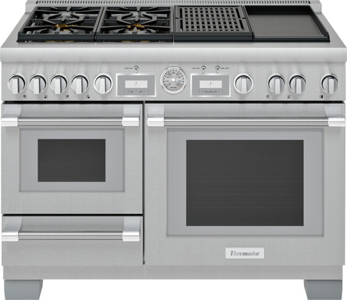 """Thermador 48"""" Dual Fuel Grand Pro Steam Range w/ Electric Grill"""