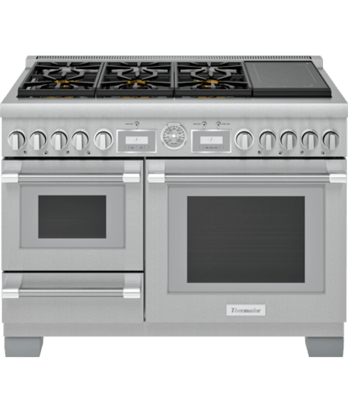 """Thermador 48"""" Dual Fuel Grand Pro Steam Range w/ Freedom Induction"""