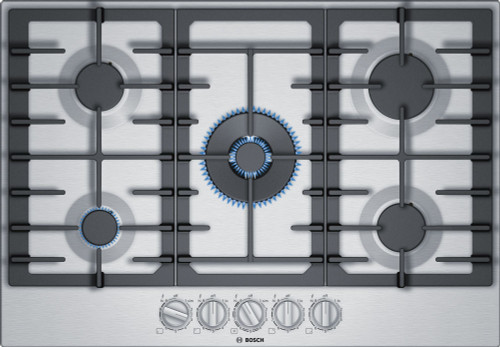 "Bosch 30"" 800 Series Gas Cooktop w/ FlameSelect"