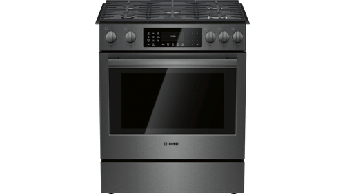 Bosch Gas 800 Series Slide-In Range - Black Stainless