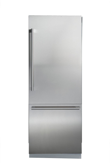 "Blomberg 24"" Fully Integrated Stainless Steel Fridge w/ Water Dispenser & Ice Maker"
