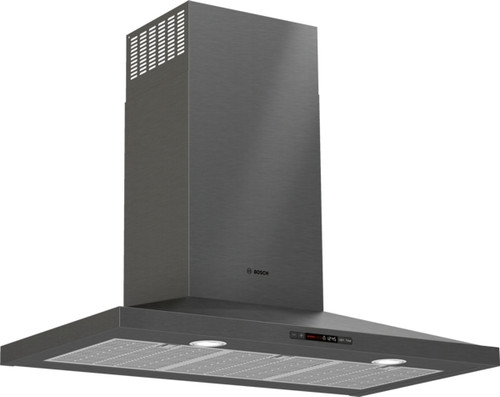 "Bosch 36"" 800 Series Pyramid Chimney Wall Hood - Black Stainless"