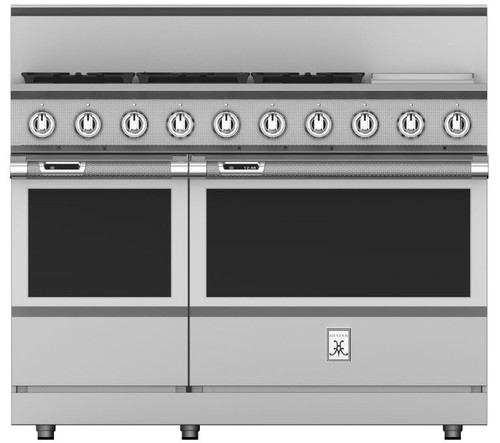 "Hestan 48"" 5 Burner Dual Fuel Range with 12"" Griddle"