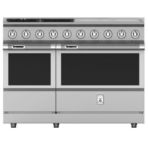 "Hestan 48"" 4 Burner Dual Fuel Range with 24"" Griddle"