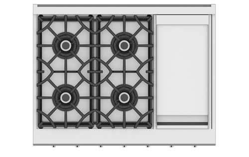 "Hestan 36"" 4 Burner Rangetop with Griddle"