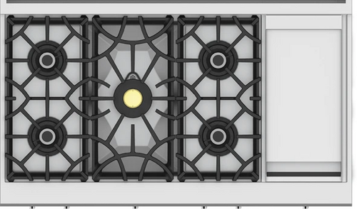 "Hestan 48"" 5 Burner Rangetop with 12"" Griddle"