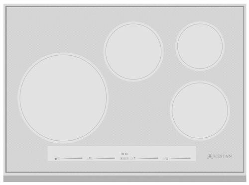 "Hestan 30"" Induction Cooktop Metallic Silver"