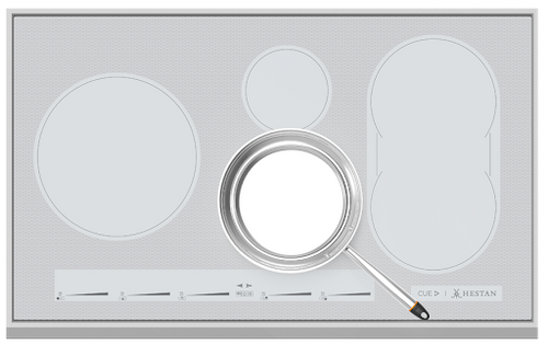"Hestan 36"" Smart Induction Cooktop Metallic Silver"