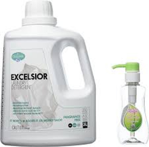 Excelsior Fragrance Free Liquid HE Laundry Detergent 3 L