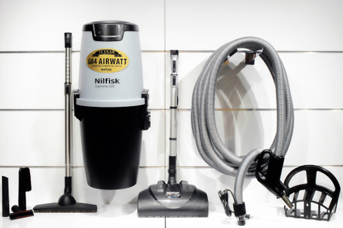 Nilfisk Supreme 250 Central Vacuum w/ Soft Clean Package - 107404979 + PA10MC