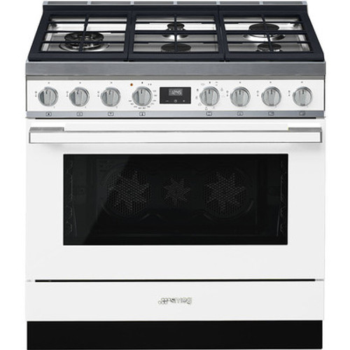 "Smeg 36"" Portofino Dual Fuel Range w/ Color Options"