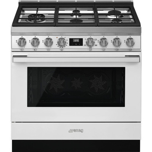 "Smeg 36"" Portofino Gas Range w/ Color Options"
