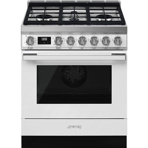 "Smeg 30"" Portofino Dual Fuel Range w/ Color Options"