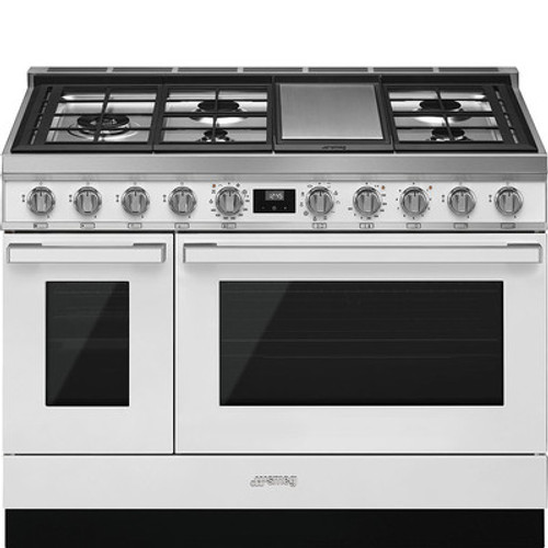 "Smeg 48"" Portofino Dual Fuel Range w/ Color Options"