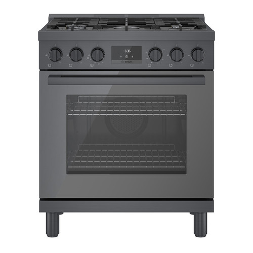 "Bosch 30"" Gas 800 Series Pro Range - Black Stainless"