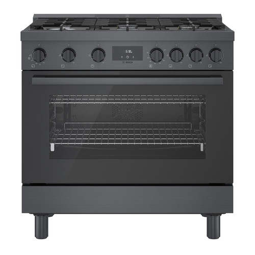 "Bosch 36"" Gas 800 Series Pro Range - Black Stainless"