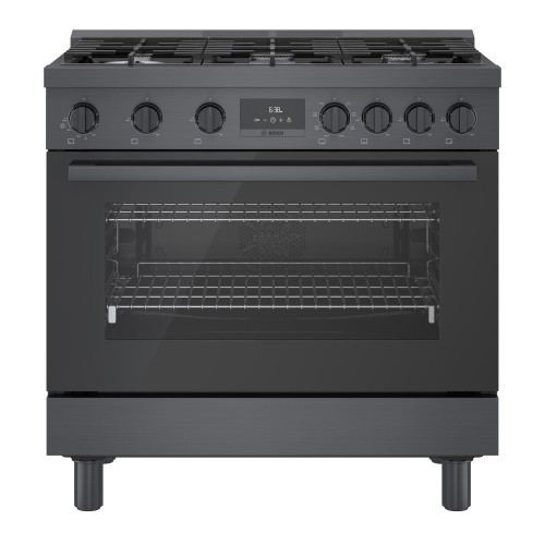 "Bosch 36"" Dual Fuel 800 Series Pro Range - Black Stainless"