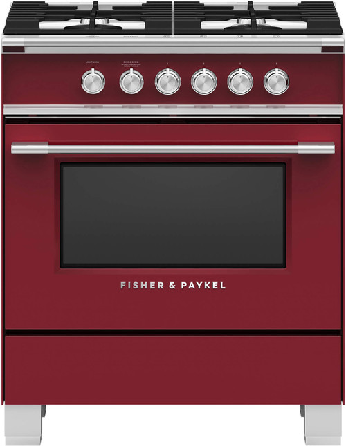 """Fisher & Paykel 30"""" Classic Gas Range - Color"""