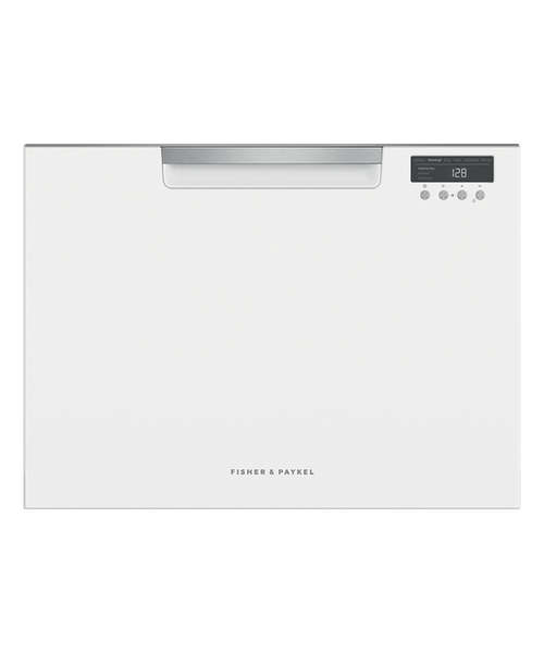 Fisher & Paykel Contemporary White Tall Dishwasher - Single Drawer
