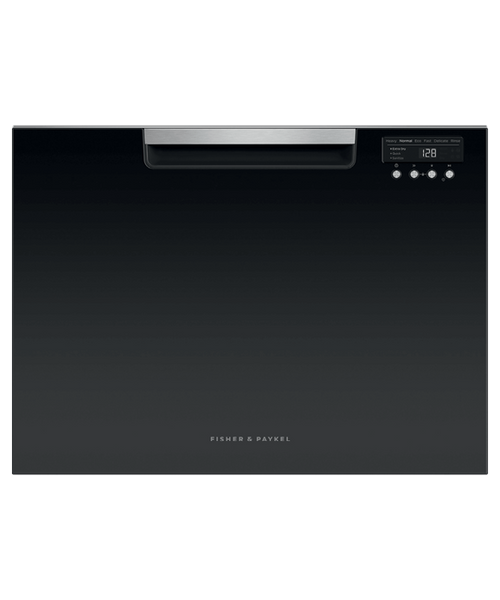 Fisher & Paykel Contemporary Black Tall Dishwasher - Single Drawer