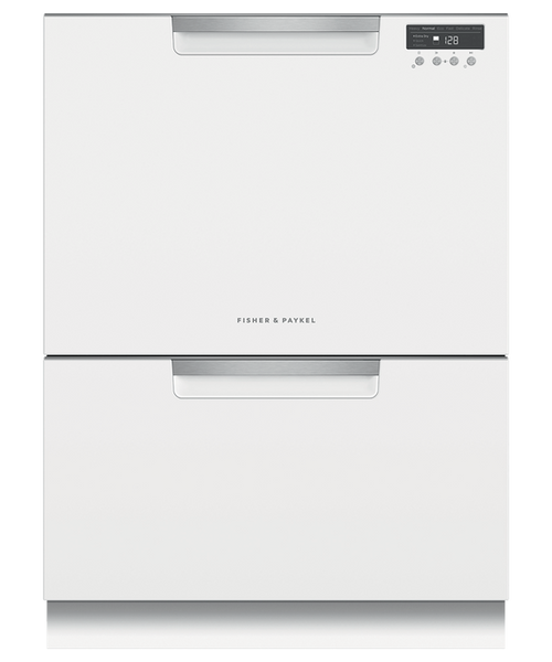 Fisher & Paykel Contemporary White Full Size Dishwasher - Double Drawer