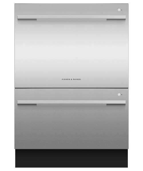 Fisher & Paykel Contemporary Stainless Steel Full Size Dishwasher - Double Drawer w/ Contemporary Handle