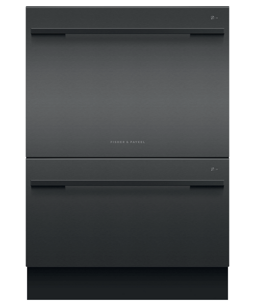 Fisher & Paykel Contemporary Black Stainless Steel Full Size Dishwasher - Double Drawer w/ Contemporary Handle